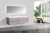 Alma-Angela 72″ Cement Grey Wall Mount Vanity With White Sink