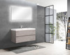 Alma-Angela 36 inch Cement Grey Wall Mount Vanity With White Sink