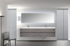 Alma-Angela 84″ Cement Grey Wall Mount Vanity With White Sink