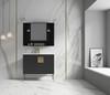 "Alma Bulanka 40"" Mirror Cabinet Dawn grey Finish"