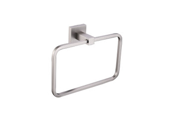 ALMA EMPOLO TOWEL RING – BRUSH NICKEL