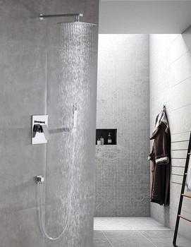 ALMA EMPOLO SHOWER SET W/ 16″ WALL MOUNT RAIN SHOWER AND HANDH SHOWER-CHROME