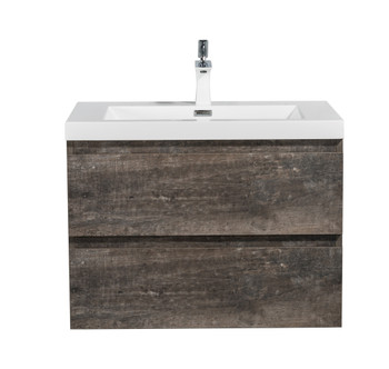 ALMA-PRE 30″ WALNUT FINISH WALL MOUNT VANITY WITH WHITE SINK
