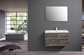ALMA-PRE 36″ WALNUT GREY WALL MOUNT VANITY WITH WHITE SINK