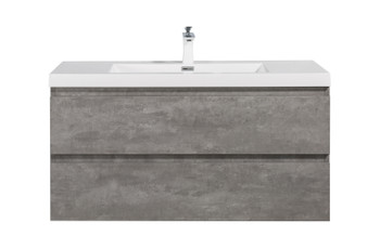 ALMA-PRE 42″ CEMENT GREY WALL MOUNT VANITY WITH WHITE SINK