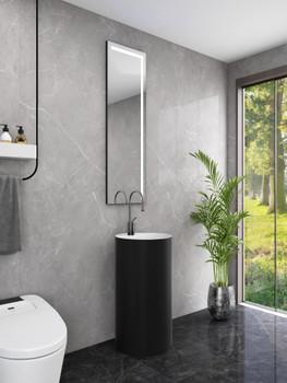 "Tuscan Polymarble 16"" Pedestal Bathroom Sink"
