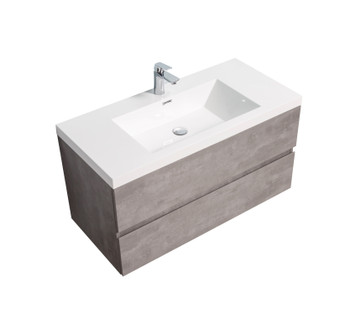 ALma-Angela 42″ Cement Grey Wall Mount Vanity With Sink