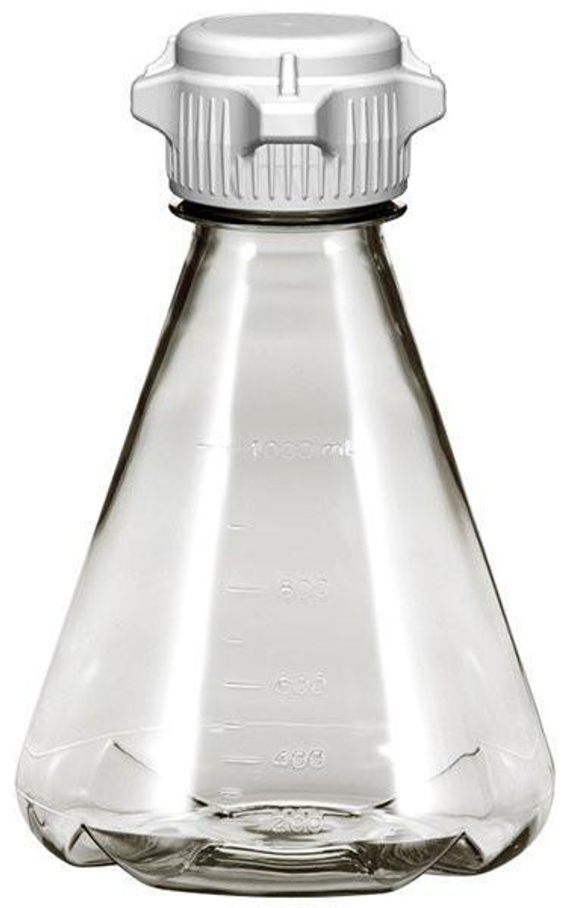 6/case 1L EZclear® Baffled Erlenmeyer Flask w/ 53mm VersaCap®, Sterile