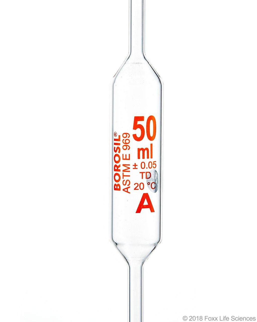 Volumetric Transfer Pipette Class A Accuracy 50 mL