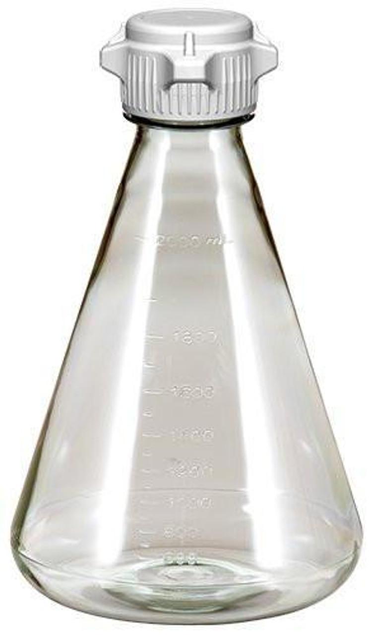 6/case 2L EZclear® Erlenmeyer Flask w/ 53mm VersaCap®, Sterile