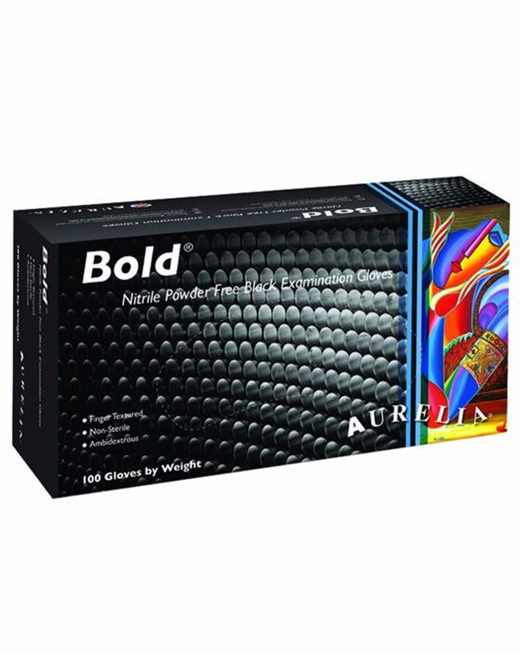 Aurelia Bold Black Nitrile Powder Free 5 Mil Disposable Gloves