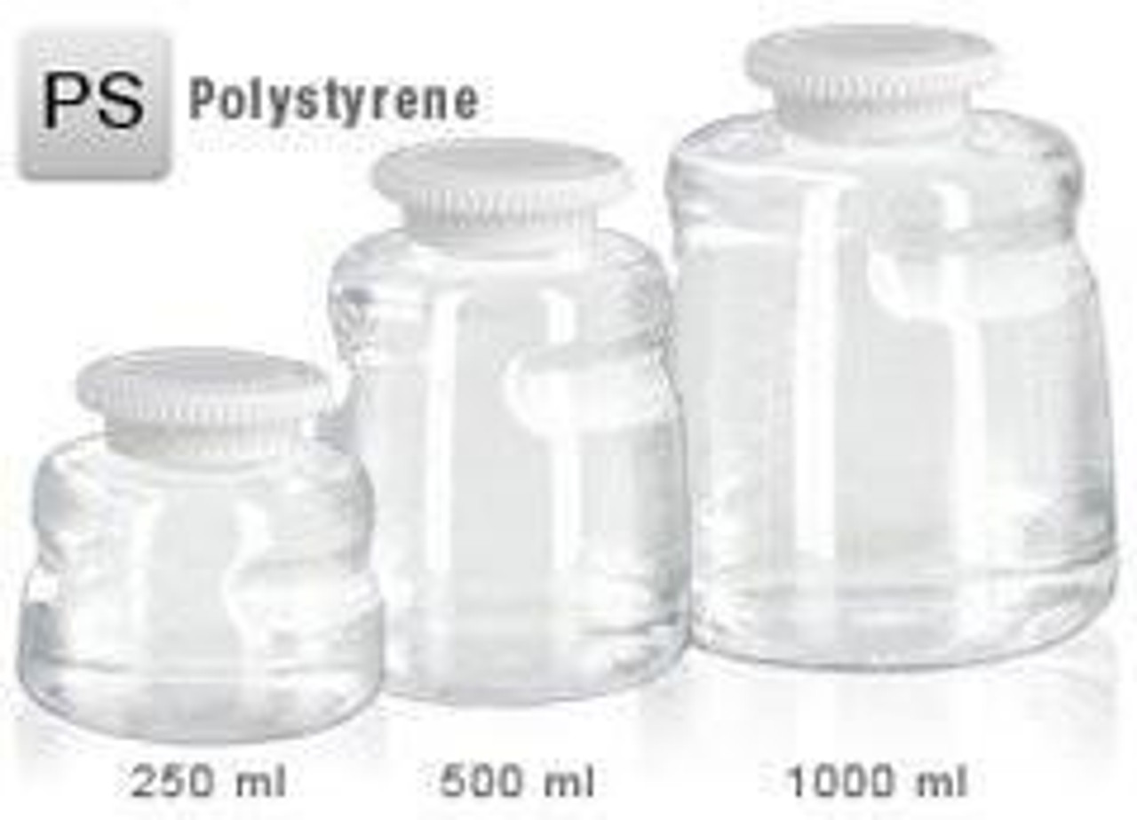 Foxx 1000ml PS SECUREgrasp® Media Bottle, NON Sterile Pack 2
