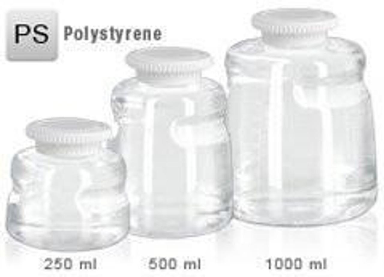 Foxx 500ml PS SECUREgrasp® Media Bottle, Sterile Pack of 24