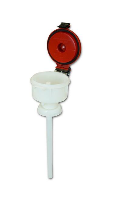 """EZwaste® 4"""" Safety Funnel, HDPE, VersaCap S70"""