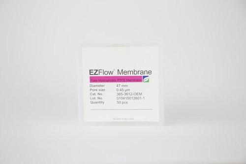 50 pack EZFlow® 47mm 0.45µm Hydrophobic PTFE Membrane Disc Filter
