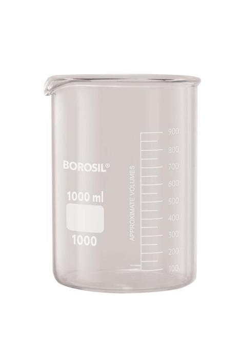 Borosil® Beakers, Low-Form, with Spouts, 3L, CS/4