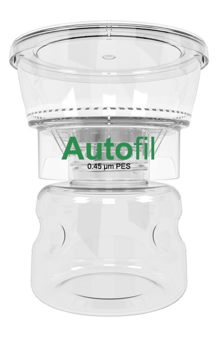 Autofil® 250 ml, 0.45μm  Bottle Top Filter,  High Flow PES, Full Assembly 12/case