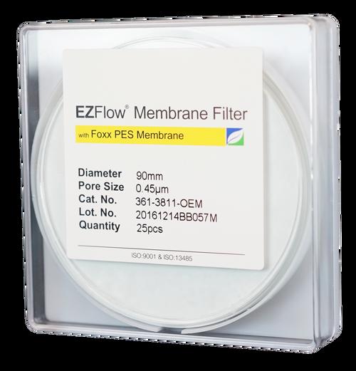 EZFlow Membrane Disc Filter, PES, 0.45µm, 90mm, Non-Sterile, 25/pk