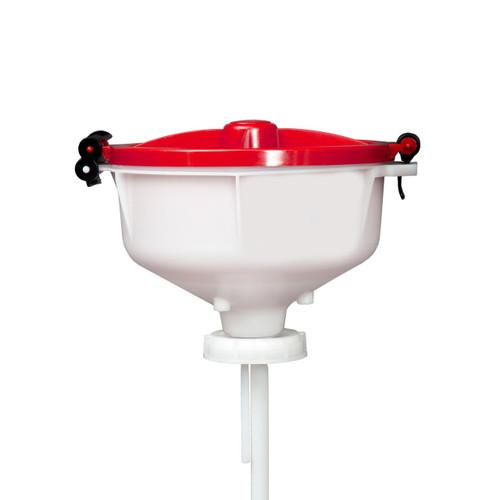 """EZwaste® 8"""" Safety Funnel, HDPE, VersaCap S70"""