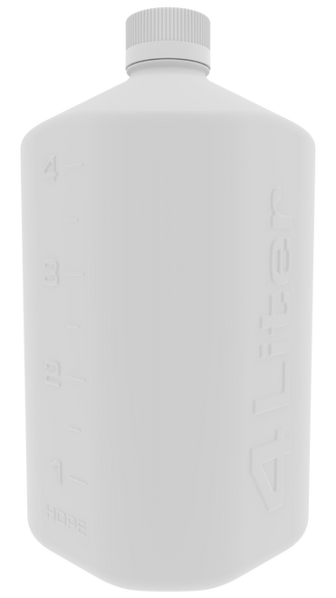 4L HDPE Boston Square Bottle