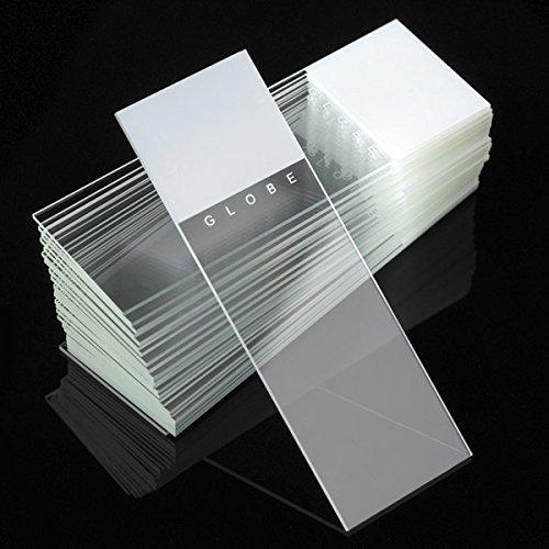 Microscope Slides, Diamond White Glass, 25 x 75mm, 90° Ground Edges, WHITE Frosted