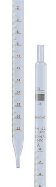 Borosil Pipettes Serological Class B, 0.1mL x 0.01mL, CS/20