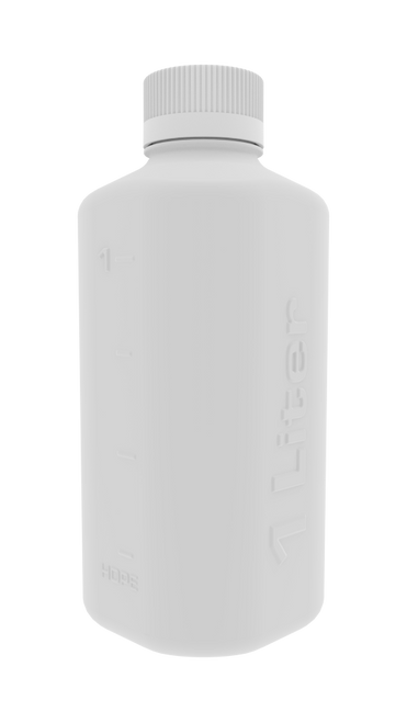1L HDPE Boston Square Bottle