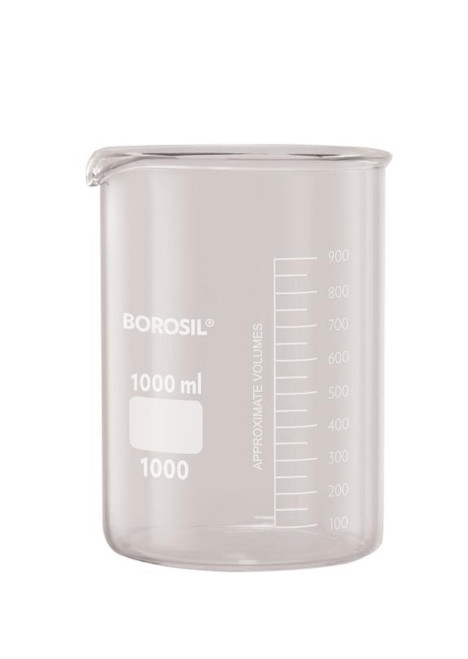 Borosil® Beakers, Low-Form, with Spouts, 800mL, CS/20