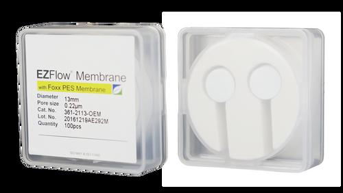 EZFlow Membrane Disc Filter, PES, 0.22µm, 13mm, Non-Sterile, 100/pk
