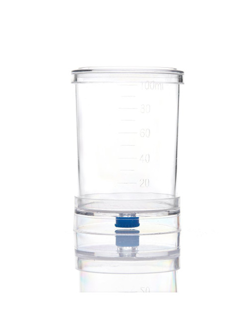 EZMicro™ Microbiology Funnel Monitor, 100mL Gridded White MCE Membrane 0.8µm, Fixed, Gamma Sterilized, PK/50
