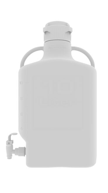 10L (2.5 Gal) PP Carboy with 83mm Cap and Spigot