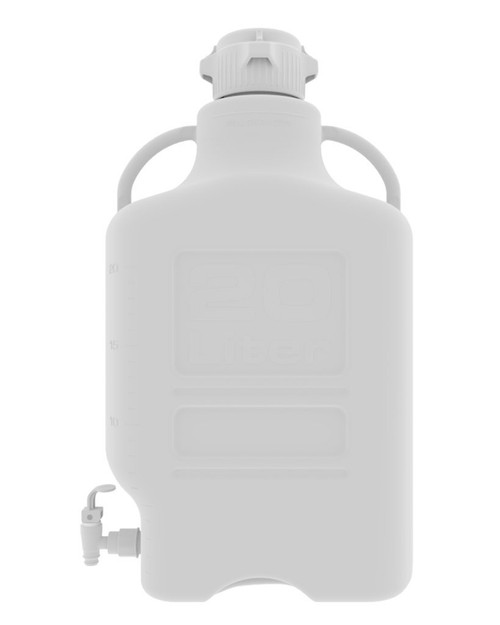 20L (5 Gal) HDPE Carboy with 83mm Cap and Spigot
