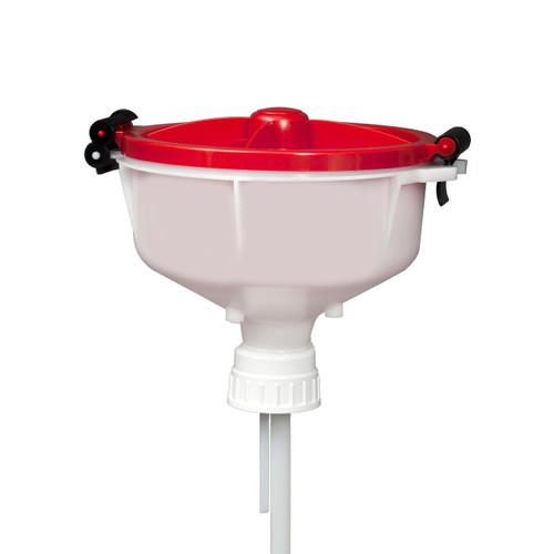 """EZwaste® 8"""" Safety Funnel, HDPE, VersaCap 53B"""