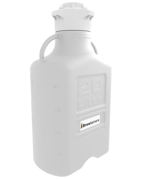 Brewtainers HDPE 20L (7 Gal Max) Homebrew Yeast Container with leakproof Tight Sealed 83mm Cap