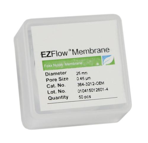 50 pack EZFlow® 25mm 0.45µm Nylon Membrane Disc Filter