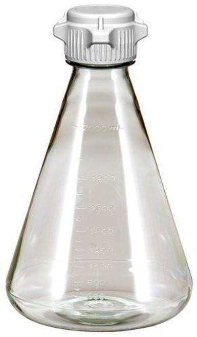 6/case 2L EZclear® Erlenmeyer Flask w/ 53mm Vented VersaCap®, Sterile