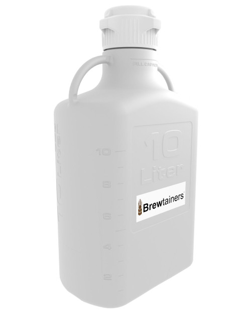 Brewtainers HDPE 10L (3.44 Gal Max) Homebrew Yeast Container with leakproof Tight Sealed 83mm Cap