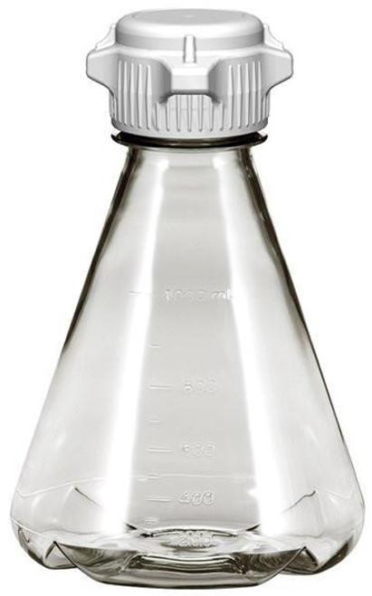 6/case 1L EZclear® Baffled Erlenmeyer Flask w/ 53mm VersaCap®, Not Sterile