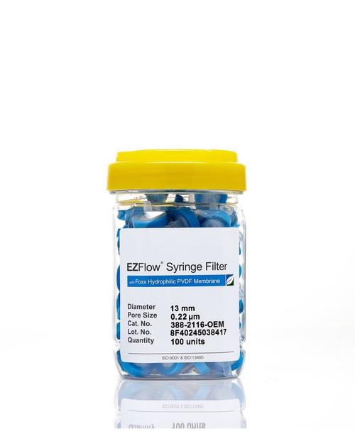 EZFlow® 13mm Syringe Filter, .2μm Hydrophilic PVDF, 100/pack