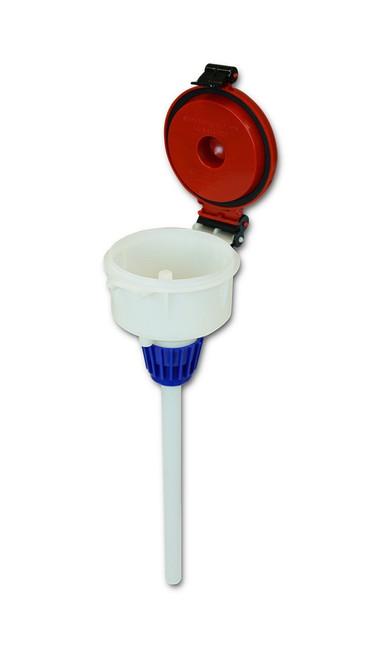 """EZwaste® 4"""" Safety Funnel, HDPE, VersaCap 38-430"""