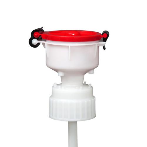 """EZwaste® 4"""" Safety Funnel, HDPE, VersaCap 83B"""