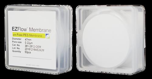 EZFlow Membrane Disc Filter, PES, 0.22µm, 47mm, Non-Sterile, 50/pk