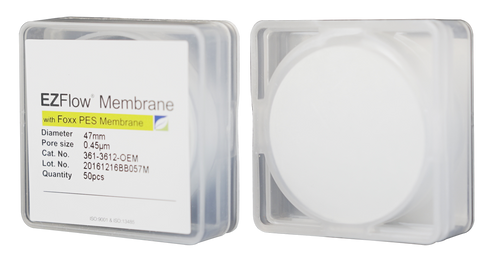 EZFlow Membrane Disc Filter, PES, 0.45µm, 47mm, Non-Sterile, 50/pk