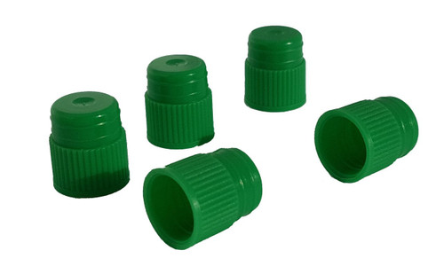 Test tube cap, diameter 13 mm, green Bag of 500