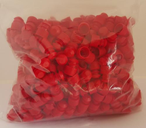 Test tube cap, diameter 14mm, red Bag of 500
