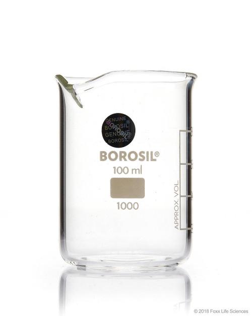 Borosil Beaker Griffin Low Form with Spout Graduated ISO 3819 Borosilicate 100mL CS/40