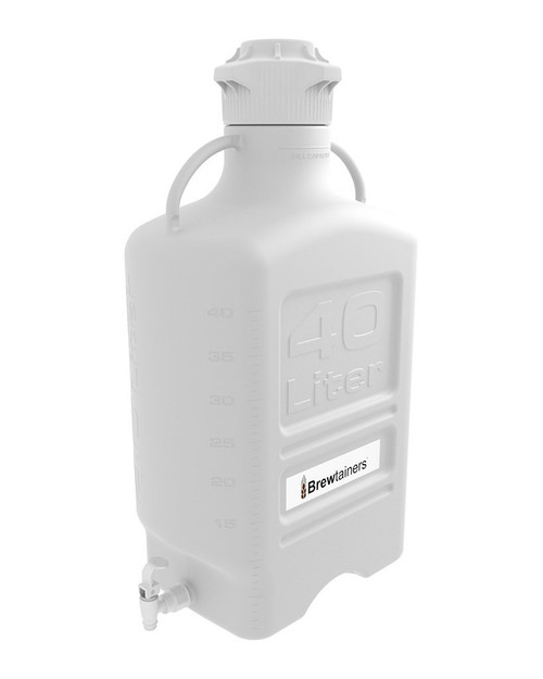 Brewtainers HDPE 40L (13.05 Gal Max) Homebrew Yeast Spigoted Despensing Container with leakproof  Tight Sealed 120mm Cap