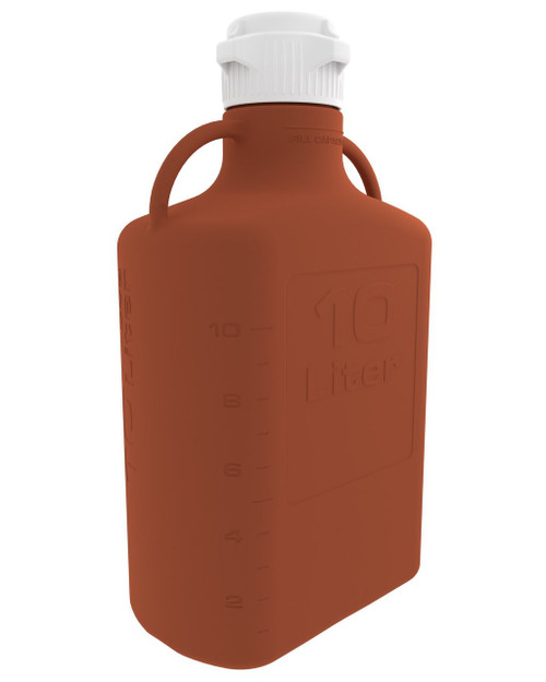 10L (2.5 Gal) Amber HDPE Carboy with 83mm Cap