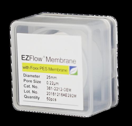 EZFlow Membrane Disc Filter, PES, 0.22µm, 25mm, Non-Sterile, 50/pk