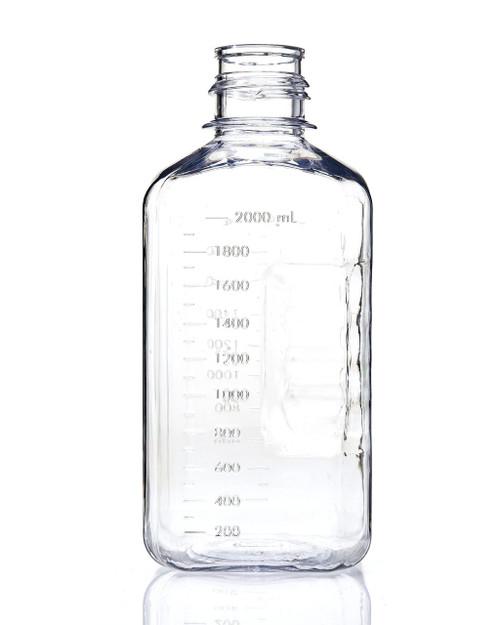 EZBio® Bottle, PETG, Non-Sterile, 2L, No Cap, pk/6